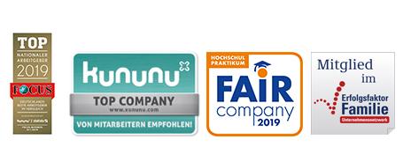 Top-Arbeitgeber 2019 - Die Auszeichnungen der Witt-Gruppe in Weiden